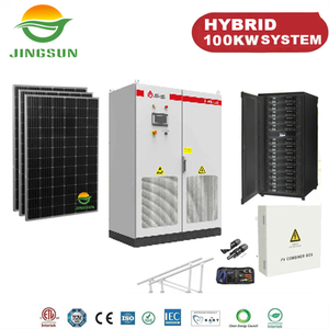 100kw Hybrid Solar System with lithium battery